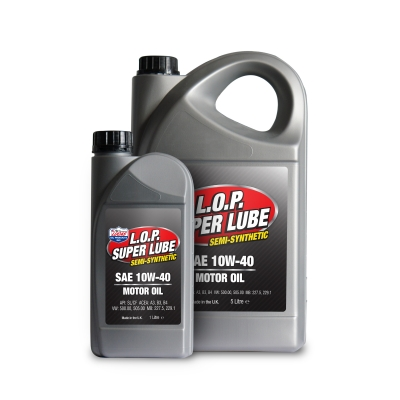 L.O.P. Super Lube Semi-Synthetic 10w-40 Motor Oil